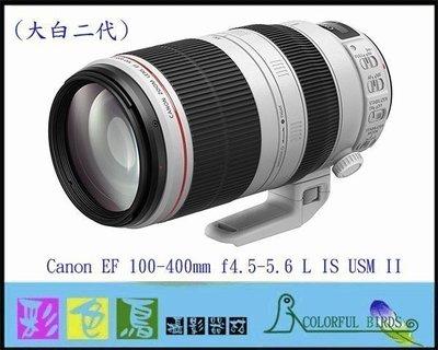 彩色鳥(租 鏡頭 相機 出租)租 Canon EF 100-400mm f4.5-5.6L IS II USM 5D4 台北市
