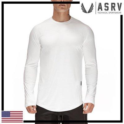 瘋狂金剛▸ 白 ASRV Train-Lite™ Long Sleeve 網眼透氣吸濕排汗長袖T恤 運動 健身