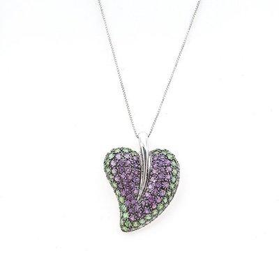 【JHT 金宏總珠寶/GIA鑽石專賣】天然沙弗來水晶墜/材質:18K(Z00003)