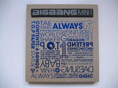 Bigbang - Always ~1st 韓語 Mini Album~ CD (韓國版) (附歌詞畫冊本) (T.O.P、太陽、G-Dragon、大聲、勝利)