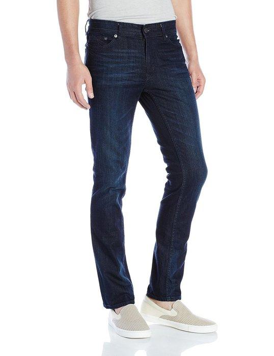 美國百分百【Calvin Klein】牛仔褲 CK 休閒褲 長褲 單寧 小直筒 修身 男款 深藍 小抓紋 褲子 H286