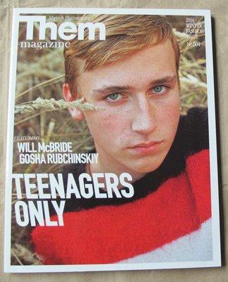 日版男性時尚雜誌 Them 14年冬季號 : TEENAGERS ONLY
