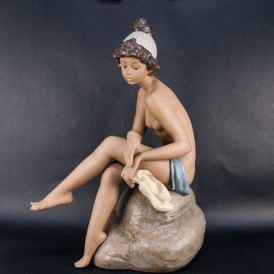 *JAZZ 棧 *絕版超大型西班牙LLADRO白日夢者DAYDREAMER瓷偶50.8cm