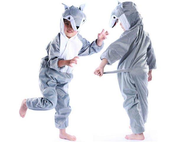 5Cgo【鴿樓】會員有優惠 18215982964 兒童表演服裝 演出卡通動物服裝 大灰狼服裝 家居服 睡衣