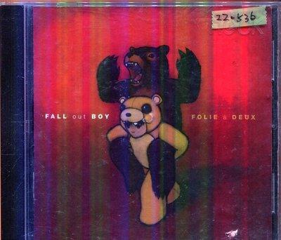 *還有唱片三館* FALL OUT BOY / FOLIE A DEUX 二手 ZZ0536 (封面底破)