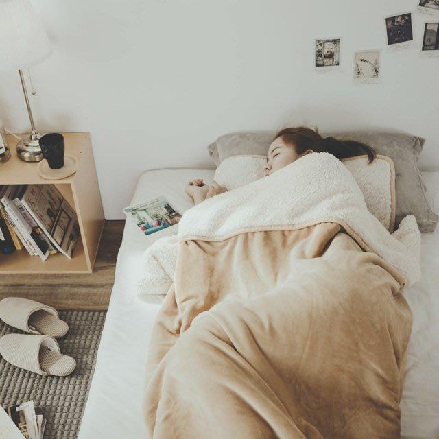 睡袋 沙漠金 加厚版法蘭羊羔絨睡袋毯(1.64kg)-絲薇諾