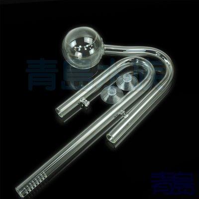 Y。。。青島水族。。。H01+L03玻璃工房-出入 進出 水管 入 出 進 水管==罌粟出+百合入12/16