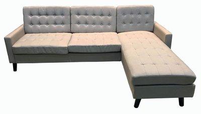 全新庫存家具賣場 LA1101DE*全新米色L型沙發 客廳桌椅*泡茶桌椅 庫存電視櫃 茶几 餐桌椅 臥室家具 北中南運送