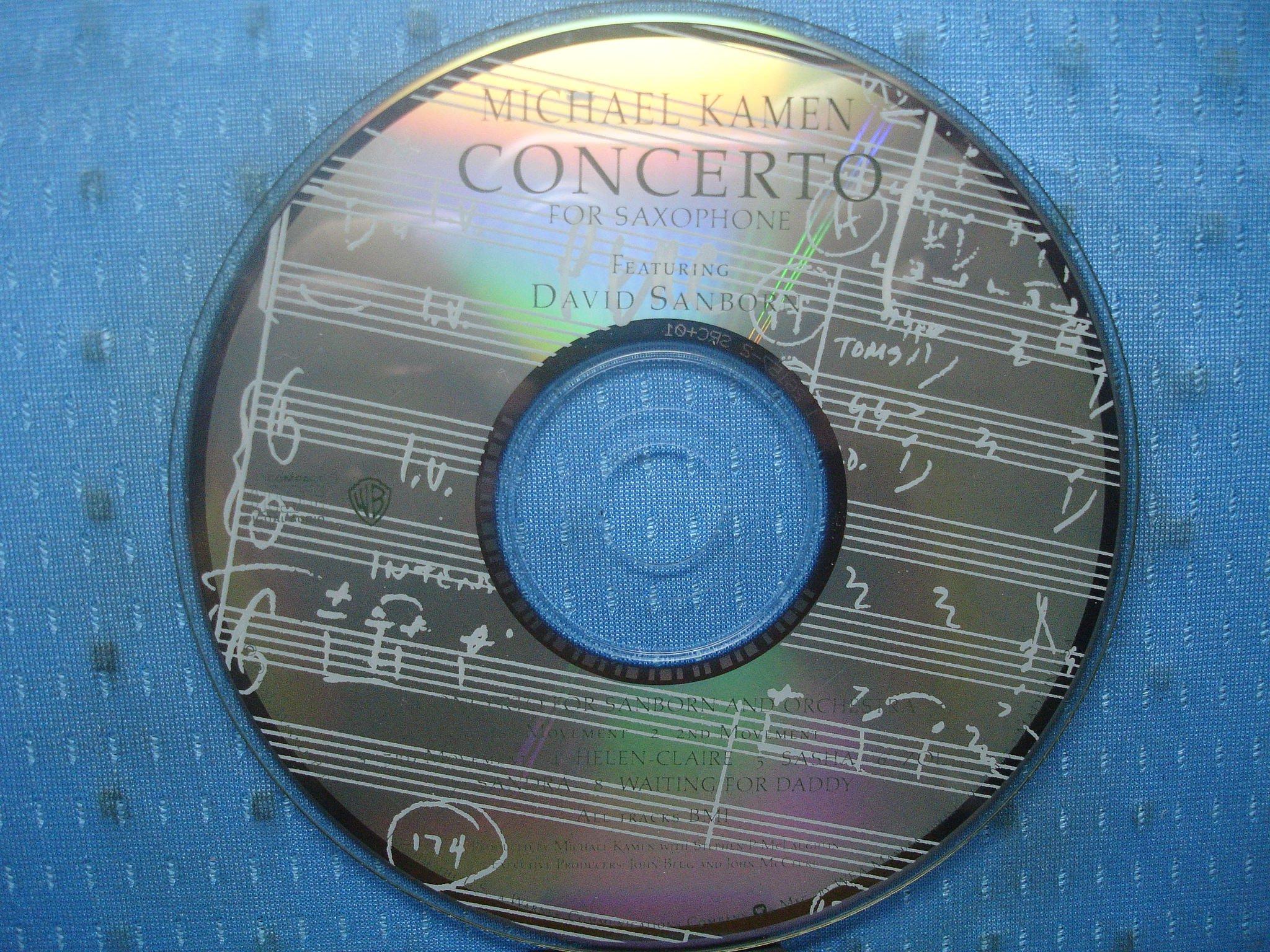 [無殼光碟]GQ Michael Kamen  Concerto for Saxophone  MADE IN USA