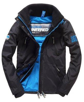 【蟹老闆】SUPERDRY 經典基本款 無帽網狀藍色內裡防風外套 防潑水機能性風衣外套 男款