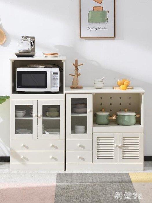 實木餐邊柜現代簡約廚房柜子儲物柜多功能客廳茶水柜碗柜微波爐柜 【甲由樂叮】