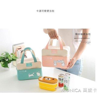 便當袋   八零布袋/日韓卡通飯盒包手提包帆布鋁箔加厚帶飯便當包拎包韓版