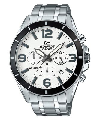 CASIO 卡西歐 EDIFICE  簡潔精準的賽車錶標準三針三圈設計 (EFR-553D-7B) (526 552D)