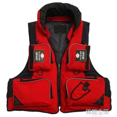 浮力衣便攜磯釣馬甲 成人專業路亞釣魚服 海釣多口袋背心救生衣