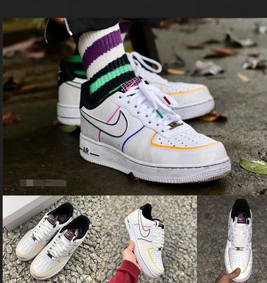 """Nike Air Force 1 Low """"Day of the Dead"""" 亡靈節 空軍一號 休閒鞋 3M反光 情侶鞋"""