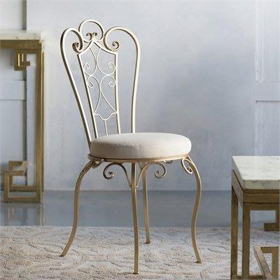 法式餐桌藝術 復古花園椅