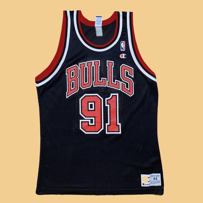 JCI:Vintage Champion NBA 芝加哥 公牛隊 客場 羅德曼 球衣 90s / Rodman