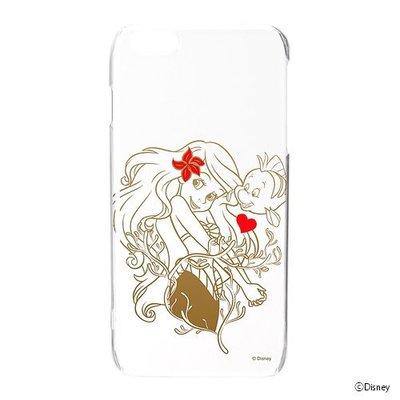 尼德斯Nydus~* 日本正版 迪士尼 小美人魚 愛麗兒 透明硬殼 手機殼 5.5吋 iPhone6+ Plus