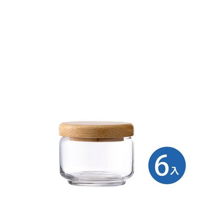 ☘小宅私物☘ Ocean 木蓋儲物罐 325ml (6入) 收納罐 密封罐 玻璃罐 咖啡罐 保鮮罐 現貨附發票