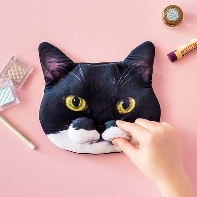Elly's Natural •【日雜空運】貓部 • 賓士貓 蝙蝠貓 網紅Gizmo QQ嘴邊肉 化妝包