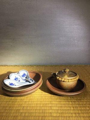 (店鋪不續租清倉大拍賣)簡銘炤先生,柴燒茶盤#741-1-2-3#原價每個4300元特價每個2150元