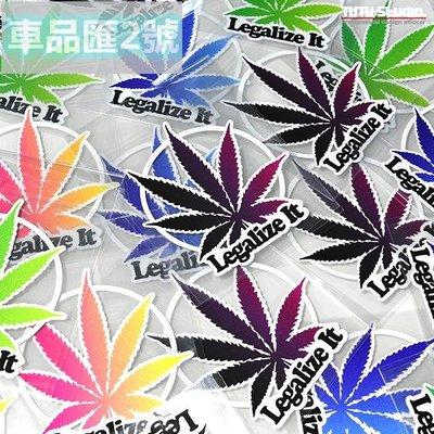 【車品匯2號店】-車品百貨he(車品匯)llaflush HF Legalize(車貼) It 汽車改裝個性反光貼花-33124
