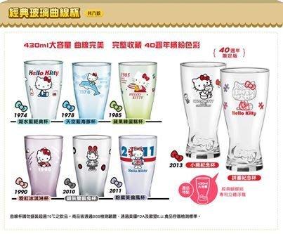 7-11 優雅時光 Hello Kitty 40周年 玻璃曲線杯共八款【單賣80/個】現貨
