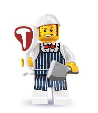 現貨【LEGO 樂高】積木/ Minifigures人偶系列: 6代人偶包抽抽樂 8827 | 肉販 Butcher