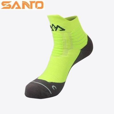 【露西小舖】Santo中筒運動襪戶外襪馬拉松襪(銀離子,CoolMax)登山襪休閒襪萊卡材質女男通用適馬拉松登山跑步慢跑