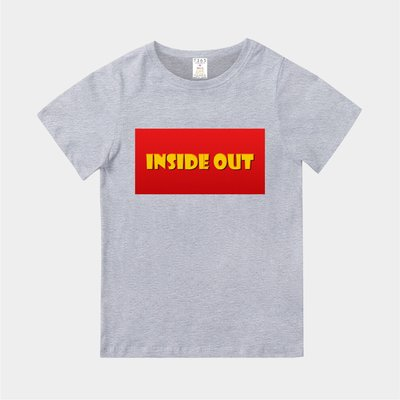 T365 MIT 親子裝 T恤 童裝 情侶裝 T-shirt 標語 話題 美式風格 slogan INSIDE OUT