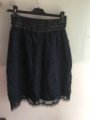 Anna sui 黑色刺繡圓裙2號