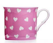 點點蘑菇屋{馬克杯}英國ROYAL DUKE粉紅色愛心骨瓷馬克杯 骨瓷杯 水杯 奶茶杯 現貨 附精緻禮盒. 新竹縣
