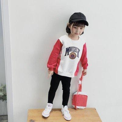 【VIAN】含運童裝女童春裝2019韓版新款衛衣 洋氣寬松T恤女孩子春秋上衣潮