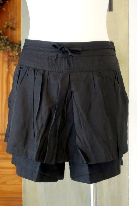 [C.M.平價精品館]S碼現貨最後一件出清特價/設計師精品專櫃別緻多層次雙口袋黑色褲裙