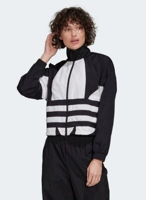 GOSPEL【Adidas Large Logo Track Jacket 】黑白 三葉草 大LOGO 外套 FM262