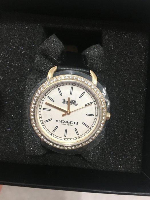 全新未戴 COACH 黑色鑽錶