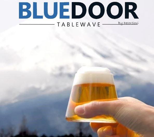 BlueD_日式 富士山 280ML高硼硅玻璃杯 耐高溫 水杯 調酒杯 果汁飲料杯 啤酒杯 威士忌杯 微波 網美風 日本