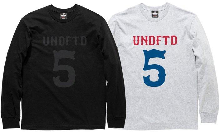【超搶手】全新正品 2014 冬季 UNDEFEATED LS UNDFTD BIG 5 TEE 長袖T S M L