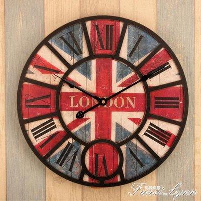 歐式鄉村田園復古客廳壁鐘 創意簡約個性裝飾靜音現代木質掛鐘錶 HM    全館免運