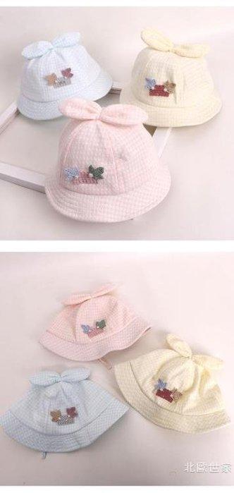 嬰兒帽子春秋夏0-3-6-12個月女寶寶薄款夏季公主可愛遮陽帽0-1歲