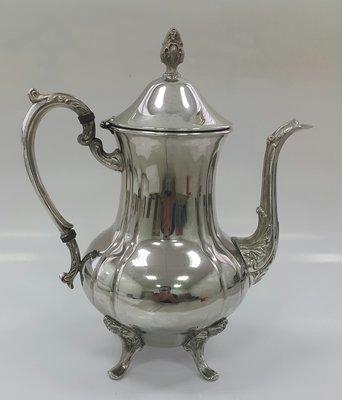 419高檔英國鍍銀壺組 Vintage Silverplate Ornate teapot (28公分高)