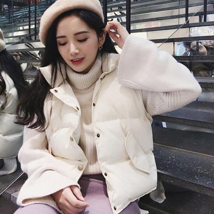 羽絨棉馬甲女短款2018秋冬新款韓版BF寬鬆百搭學生加厚背心外套潮