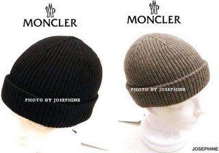 喬瑟芬【MONCLER】現貨~黑色美麗諾羊毛+CASHMERE毛線帽(灰/深藍/黑)