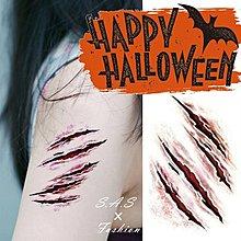 傷疤紋身貼紙 變裝 傷口紋身貼紙 恐怖逼真血跡傷疤痕 節慶裝扮 萬聖節搞鬼 變裝派對【183】
