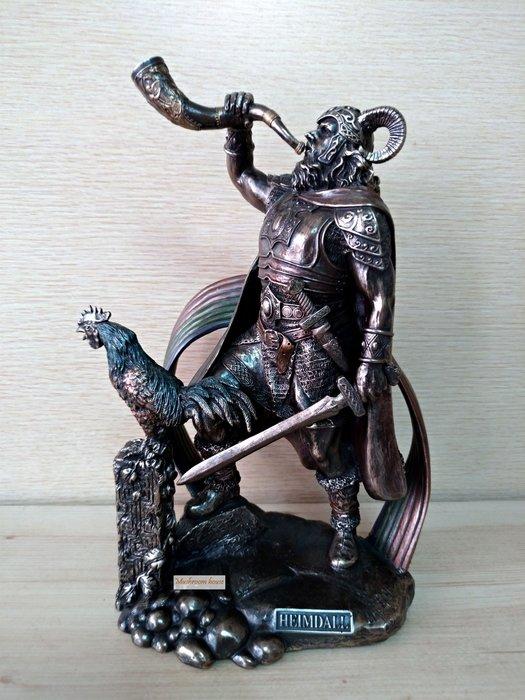 點點蘑菇屋 歐洲進口雕塑~古北歐神話光之神海姆達爾仿銅雕像 希臘神話雕像擺飾 免運費 現貨