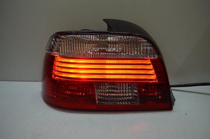 DJD19081002 BMW E39 95 96 97 98 99 LED紅白晶鑽 光柱尾燈