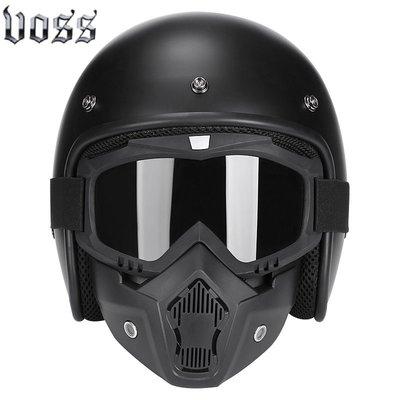VOSS復古頭盔男女哈雷半盔電動摩托車頭盔安全帽四季3/4盔半覆式騎手頭盔 騎士用品