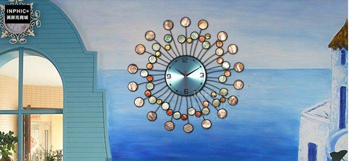 INPHIC-客廳臥室時尚藝術美式田園靜音大掛鐘錶掛錶時鐘_S01902C