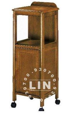 【品特優家具倉儲】◎P156-15收納櫃置物櫃實木一門電話櫃CY-275