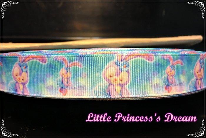 迪士尼 22mm 史黛拉兔/芭蕾兔Stella Lou 優雅舞姿精緻羅紋帶 (緞帶/髮飾材料/DIY手作) 現貨實品拍攝
